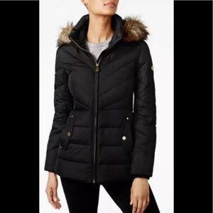 Michael Kors hooded puffer jacket black XS,PM